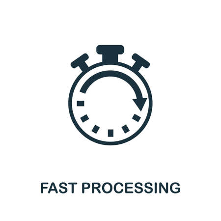 Fast Processing icon. Simple element from data organization collection. Filled Fast Processing icon for templates, infographics and more.