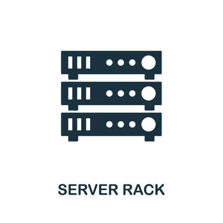 Server Rack icon. Simple element from data organization collection. Filled Server Rack icon for templates, infographics and more. Ilustrace