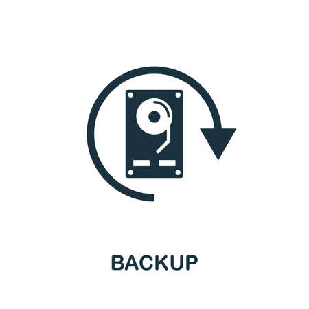 Backup icon. Simple element from data organization collection. Filled Backup icon for templates, infographics and more.
