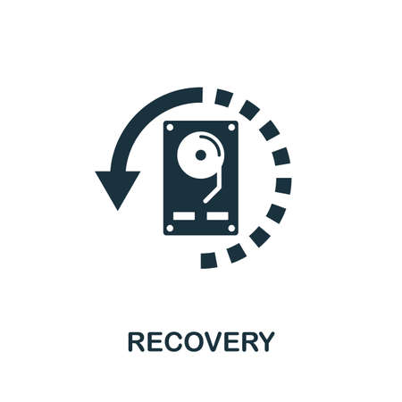 Recovery icon. Simple element from data organization collection. Filled Recovery icon for templates, infographics and more.