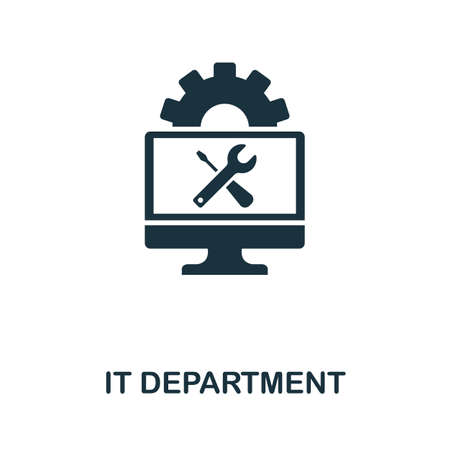 It Department icon. Simple element from data organization collection. Filled It Department icon for templates, infographics and more.