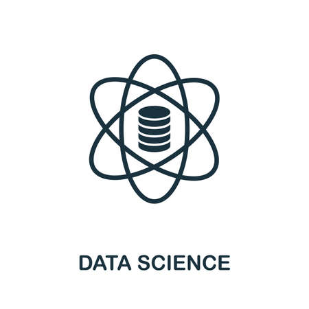 Data Science icon. Simple element from data organization collection. Filled Data Science icon for templates, infographics and more. Ilustrace