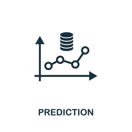 Prediction icon. Simple element from data organization collection. Filled Prediction icon for templates, infographics and more.