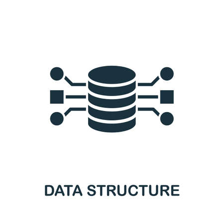 Data Structure icon. Simple element from data organization collection. Filled Data Structure icon for templates, infographics and more.