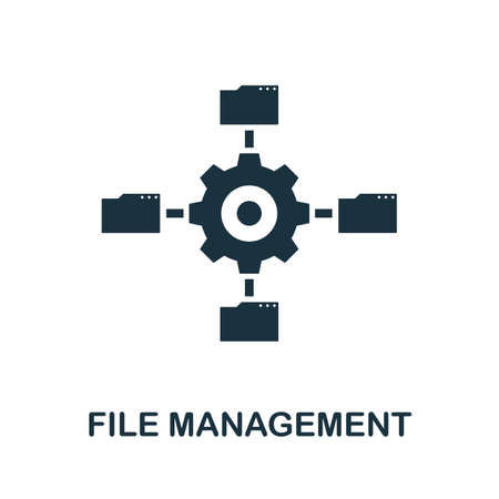 File Management icon. Simple element from data organization collection. Filled File Management icon for templates, infographics and more.