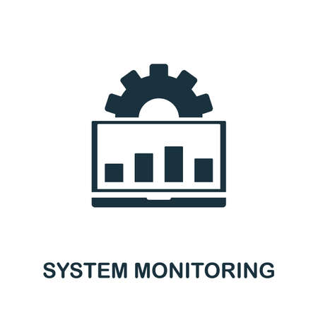 System Monitoring icon. Simple element from data organization collection. Filled System Monitoring icon for templates, infographics and more.