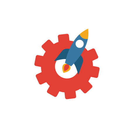 Launch icon. Simple element from startup icons collection. Creative Launch icon ui, ux, apps, software and infographics. Ilustrace