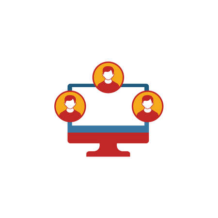 Virtual Team icon. Simple element from project management icons collection. Creative Virtual Team icon ui, ux, apps, software and infographics.