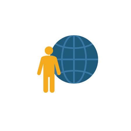 Global Management icon. Simple element from project management icons collection. Creative Global Management icon ui, ux, apps, software and infographics.