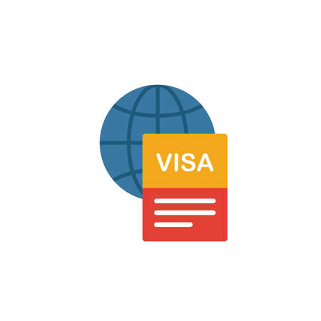 Visa icon. Simple element from tourism icons collection. Creative Visa icon ui, ux, apps, software and infographics.
