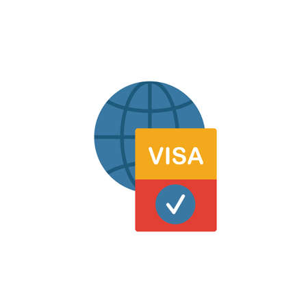 Visa icon. Simple element from icons collection. Creative Visa icon ui, ux, apps, software and infographics. 向量圖像