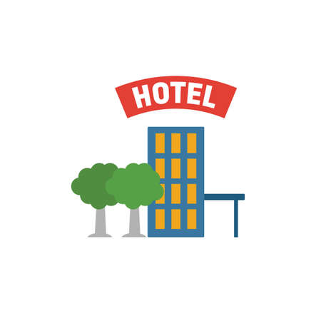 Hotel icon. Simple element from tourism icons collection. Creative Hotel icon ui, ux, apps, software and infographics. 向量圖像