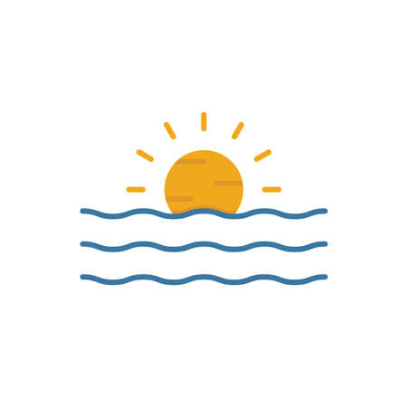 Sunset icon. Simple element from tourism icons collection. Creative Sunset icon ui, ux, apps, software and infographics.