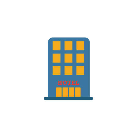 Hotel icon. Simple element from travel icons collection. Creative Hotel icon ui, ux, apps, software and infographics.