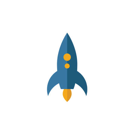 Rocket icon. Simple element from transport icons collection. Creative Rocket icon ui, ux, apps, software and infographics. 向量圖像