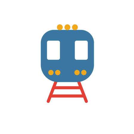 Train icon. Simple element from transport icons collection. Creative Train icon ui, ux, apps, software and infographics. 向量圖像