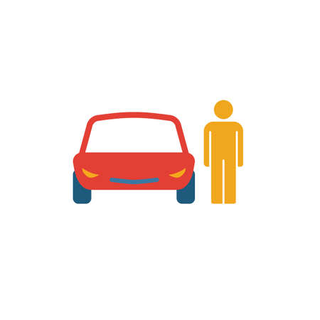 Car Driver icon. Simple element from transport icons collection. Creative Car Driver icon ui, ux, apps, software and infographics.