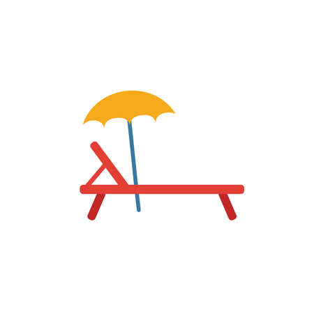 Sunbed icon. Simple element from travel icons collection. Creative Sunbed icon ui, ux, apps, software and infographics. 向量圖像