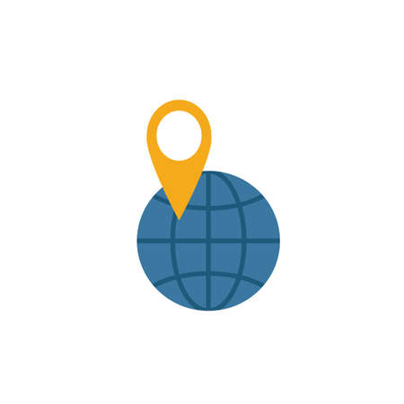 Map Location icon. Simple element from travel icons collection. Creative Map Location icon ui, ux, apps, software and infographics. 向量圖像