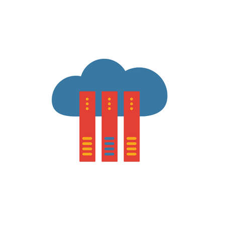 Cloud Hosting icon. Simple element from web hosting icons collection. Creative Cloud Hosting icon ui, ux, apps, software and infographics. 일러스트