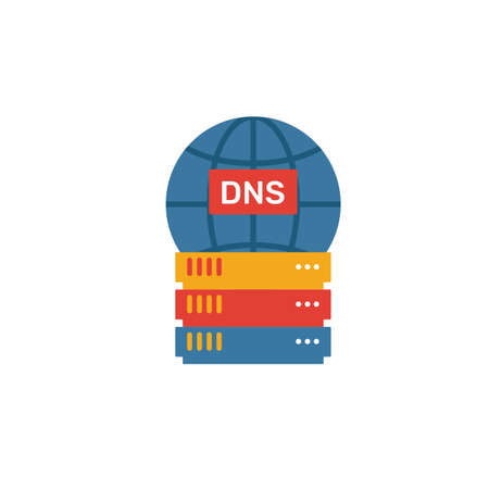 Dns icon. Simple element from web hosting icons collection. Creative Dns icon ui, ux, apps, software and infographics.