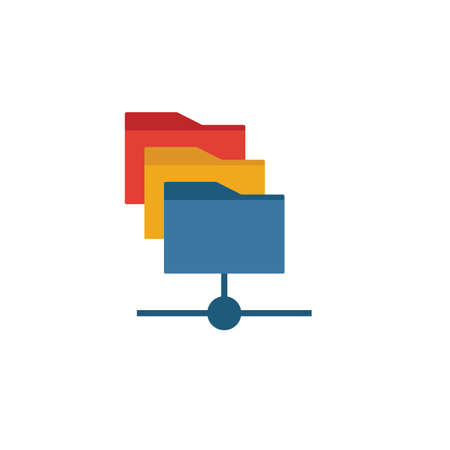 File Manager icon. Simple element from web hosting icons collection. Creative File Manager icon ui, ux, apps, software and infographics. 일러스트