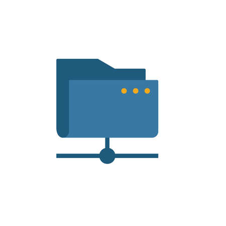 Cloud Folder icon. Simple element from web hosting icons collection. Creative Cloud Folder icon ui, ux, apps, software and infographics. 스톡 콘텐츠 - 140990879