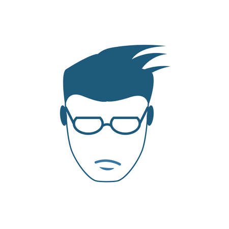A Man Without A Beard icon. Flat creative element from barber shop icons collection. Colored a man without a beard icon for templates, web design and software.