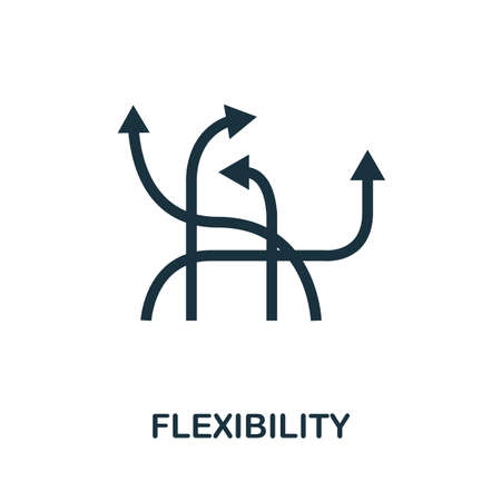 Flexibility icon. Simple element from business disruption collection. Filled Flexibility icon for templates, infographics and more. 矢量图像