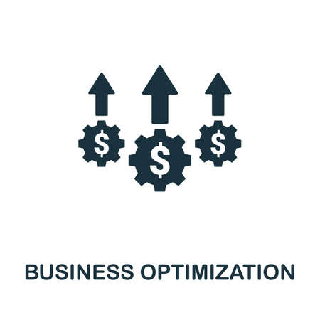 Business Optimization icon. Simple element from business disruption collection. Filled Business Optimization icon for templates, infographics and more.  イラスト・ベクター素材