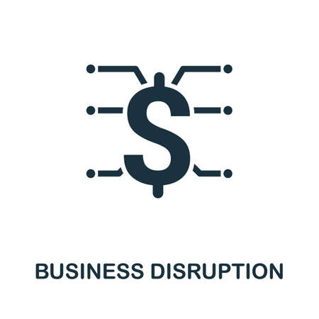 Business Disruption icon. Simple element from business disruption collection. Filled Business Disruption icon for templates, infographics and more.
