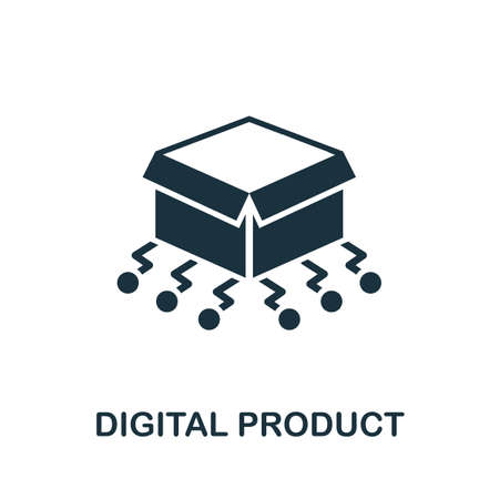 Digital Product icon. Simple element from digital disruption collection. Filled Digital Product icon for templates, infographics and more.