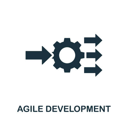 Agile Development icon. Simple element from digital disruption collection. Filled Agile Development icon for templates, infographics and more Иллюстрация