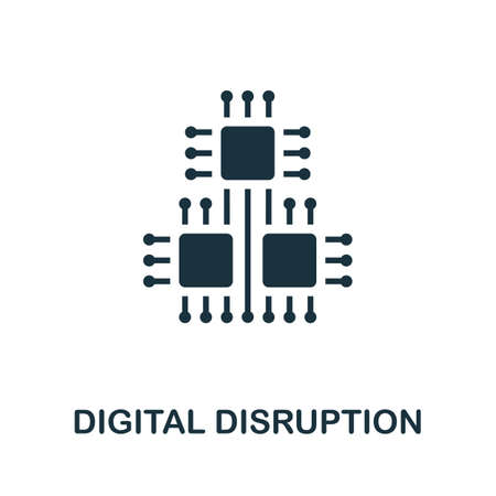 Digital Disruption icon. Simple element from digital disruption collection. Filled Digital Disruption icon for templates, infographics and more