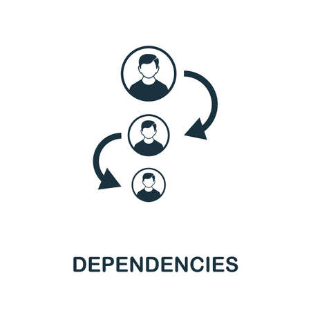 Dependencies icon. Simple element from business intelligence collection. Filled Dependencies icon for templates, infographics and more. 写真素材 - 143437205