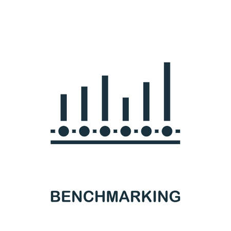 Benchmarking icon. Simple element from business intelligence collection. Filled Benchmarking icon for templates, infographics and more.