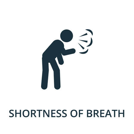 Shortness Of Breath icon. Simple illustration from coronavirus collection. Creative Shortness Of Breath icon for web design, templates, infographics and more.