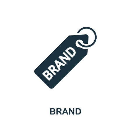 Brand icon. Simple element from intellectual property collection. Filled Brand icon for templates, infographics and more
