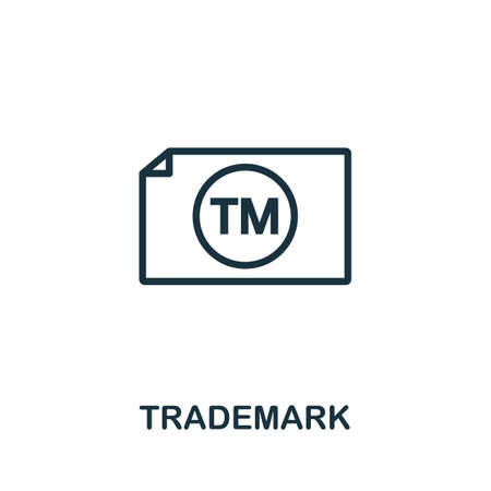 Trademark icon. Simple element from intellectual property collection. Filled Trademark icon for templates, infographics and more