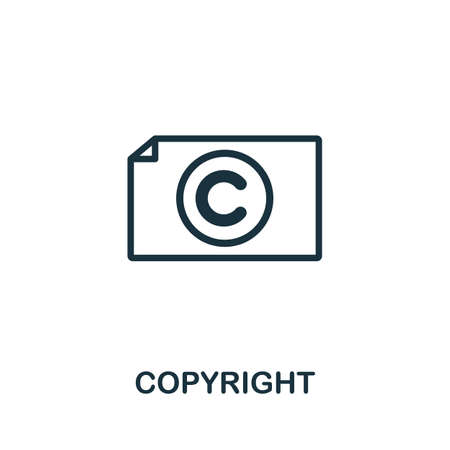 Copyright icon. Simple element from intellectual property collection. Filled Copyright icon for templates, infographics and more