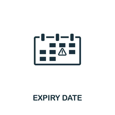 Expiry Date icon. Simple element from intellectual property collection. Filled Expiry Date icon for templates, infographics and more