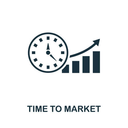Time To Market icon. Simple element from intellectual property collection. Filled Time To Market icon for templates, infographics and more