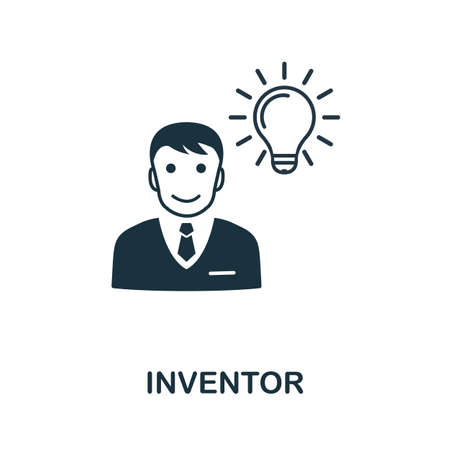 Inventor icon. Simple element from intellectual property collection. Filled Inventor icon for templates, infographics and more.