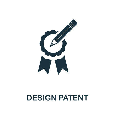 Design Patent icon. Simple element from intellectual property collection. Filled Design Patent icon for templates, infographics and more. Ilustração