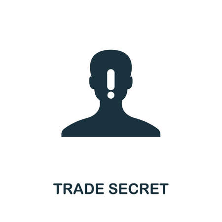 Trade Secret icon. Simple element from intellectual property collection. Filled Trade Secret icon for templates, infographics and more.