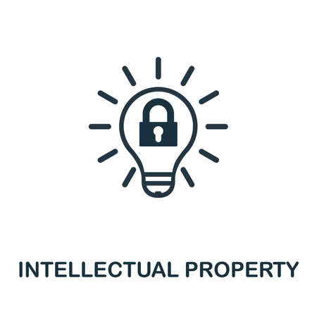 Intellectual Property icon. Simple element from intellectual property collection. Filled Intellectual Property icon for templates, infographics and more. Ilustração