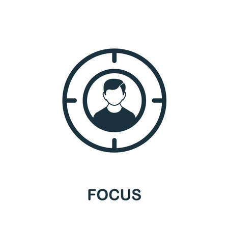 Focus icon. Simple element from consulting collection. Filled Focus icon for templates, infographics and more.