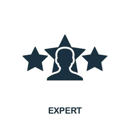Expert icon. Simple element from consulting collection. Filled Expert icon for templates, infographics and more. Ilustracje wektorowe