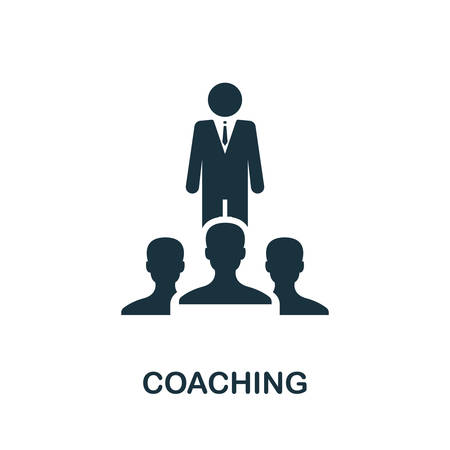 Coaching icon. Simple element from consulting collection. Filled Coaching icon for templates, infographics and more