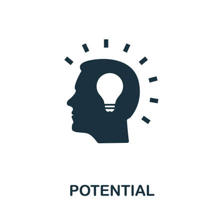 Potential icon. Simple element from consulting collection. Filled Potential icon for templates, infographics and more Ilustracje wektorowe
